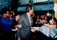 1990 FILE PHOTO - ARCHIVES -<br /> <br /> Echoes of the 1990 TIFF festival; : Clint Eastwood arrives.<br /> <br /> 1990<br /> <br /> PHOTO :  Erin Comb - Toronto Star Archives - AQP