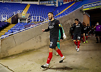 10th February 2021; Madejski Stadium, Reading, Berkshire, England; English Football League Championship Football, Reading versus Brentford; Henrik Dalsgaard of Brentford leading out his team mates from the away tunnel