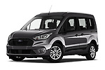 Stock pictures of low aggressive front three quarter view of 2019 Ford Tourneo-Connect Trend 5 Door Mini Mpv Low Aggressive