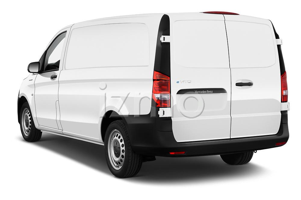 Car pictures of rear three quarter view of 2020 Mercedes Benz eVito Base 4 Door Cargo Van Angular Rear