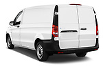 Car pictures of rear three quarter view of 2020 Mercedes Benz eVito Base 4 Door Cargo Van Angular Rear