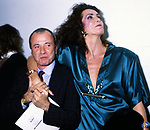 ACHILLE BONITO OLIVA E MARINA RIPA DI MEANA<br /> OPEN GATE ROMA 1996