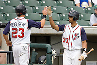 Maysonet, Edwin 0189.jpg. Memphis Redbirds at Round Rock Express in Pacific Coast League Baseball. Dell Diamond on April 26th 2009 in Round Rock, Texas. Photo by Andrew Woolley.