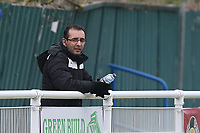 Clapton manager Mustafa Bashkal during Redbridge vs Clapton, Len Cordell Memorial Cup Football at Oakside Stadium on 10th April 2021