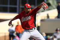 March 5, 2010:  Pitcher Yorman Bozardo of the Houston Astros during a Spring Training game at Joker Marchant Stadium in Lakeland, FL.  Photo By Mike Janes/Four Seam Images