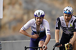 Alex Dowsett (GBR) Israel Start-up Nation and Harry Tanfield (GBR) Team Qhubeka Assos climb the final 4km of Jais Mountain during Stage 5 of the 2021 UAE Tour running 170km from Fujairah to Jebel Jais, Ras Al Khaimah, UAE. 25th February 2021.  <br /> Picture: Eoin Clarke   Cyclefile<br /> <br /> All photos usage must carry mandatory copyright credit (© Cyclefile   Eoin Clarke)