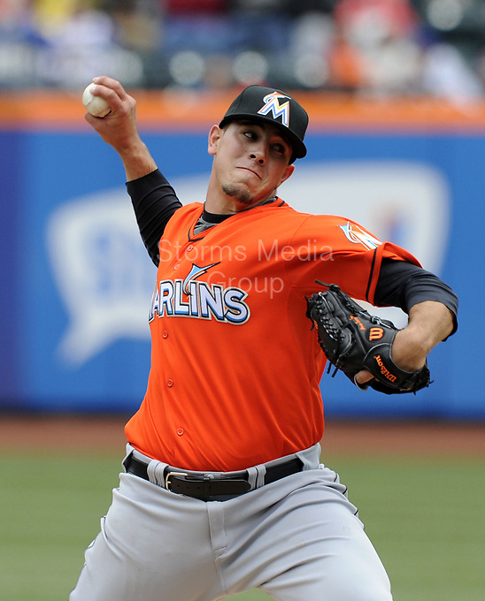 MIAMI BEACH, FL - SEPTEMBER 25: FILE PHOTOS - Miami Marlins pitcher José Fernandez, one of baseball's brightest stars, was killed early Sunday in a boating accident, Florida authorities confirmed on September 25, 2016 in Miami Beach, Florida.<br /> <br /> <br /> People:  Jose Fernandez