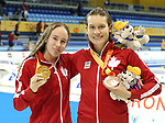 Toronto, Ontario, August 12, 2015. Justine Morrier wins gold and Kirsti Kasko wins borne in the swimming during the 2015 Parapan Am Games . Photo Scott Grant/Canadian Paralympic Committee