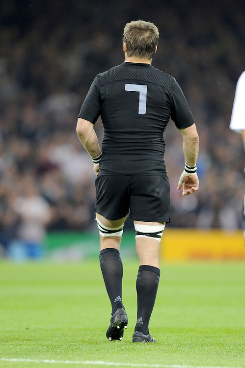 Richie McCaw of New Zealand during Match 23 of the Rugby World Cup 2015 between New Zealand and Georgia - 02/10/2015 - Millennium Stadium, Cardiff<br /> Mandatory Credit: Rob Munro/Stewart Communications