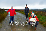 Margaret O'Sullivan, Helen Moynihan and John Moriarty are encouraging people to walk the bog roads of Kilcummin during the lockdown