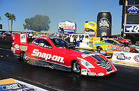 Feb. 17 2012; Chandler, AZ, USA; NHRA funny car driver Cruz Pedregon during the Arizona Nationals at Firebird International Raceway. Mandatory Credit: Mark J. Rebilas-