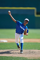 Pitcher Jean Hernandez (14) during the Dominican Prospect League Elite Underclass International Series, powered by Baseball Factory, on July 31, 2017 at Silver Cross Field in Joliet, Illinois.  (Mike Janes/Four Seam Images)