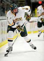6 November 2009: University of Vermont Catamount forward Sebastian Stalberg, a Freshman from Gothenburg, Sweden, in second period action against the University of Massachusetts Lowell River Hawks at Gutterson Fieldhouse in Burlington, Vermont. The Hockey East rivals battled to a 3-3 tie. Mandatory Credit: Ed Wolfstein Photo