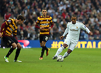 Pictured: (L-R) Nahki Wells, Wayne Routledge. Sunday 24 February 2013<br /> Re: Capital One Cup football final, Swansea v Bradford at the Wembley Stadium in London.