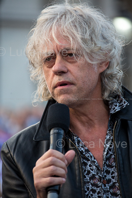 """Bob Geldof KBE (Irish singer-songwriter, author, actor and political activist).<br /> <br /> London, 15/09/2014. Today, """"Let's Stay Together campaign"""" held a rally in Trafalgar Square, where thousands of people gathered to support the """"NO"""" vote in the Scottish referendum for the Independence from the United Kingdom set for the 18th of September. <br /> <br /> For more information please click here: https://www.letsstaytogether.org.uk/"""