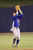 Daniel Lockhart #15 of the AZL Cubs catches a pop fly against the AZL Brewers at Maryvale Baseball Park on July 23, 2012 in Phoenix, Arizona. Cubs defeated Brewers 7-3. (Larry Goren/Four Seam Images)