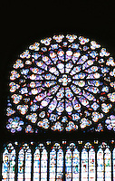 Paris: Notre Dame--Rose Window, South Transept. Photo '87.