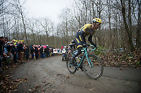 Sep Vanmarcke (BEL/LottoNL-Jumbo) up the steep Baneberg<br /> <br /> 77th Gent-Wevelgem 2015
