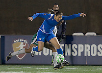 Boston Breakers midfielder-forward Angela Hucles (16) controls pass. The Boston Breakers defeated Saint Louis Athletica, 2-0, at Harvard Stadium on April 11, 2009.