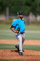 Miami Marlins pitcher Nestor Bautista (61) during a Minor League Spring Training Intrasquad game on March 28, 2019 at the Roger Dean Stadium Complex in Jupiter, Florida.  (Mike Janes/Four Seam Images)