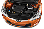 Car Stock 2017 Hyundai Veloster Manual 5 Door Hatchback Engine  high angle detail view