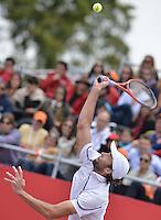 BOGOTÁ -COLOMBIA. 21-07-2013. Ivo Karlovic (CRO) durante juego contra Alejandro Falla (COL) en la final del ATP Claro Open Colombia 2013 jugado en el Centro de Alto Rendimiento en Bogota./ Ivo Karlovic (CRO) during match against Alejandro Fall (COL) in the final of ATP Claro Open Colombia 2013 at Centro de Alto Rendimiento in Bogota city. Photo: VizzorImage / Str