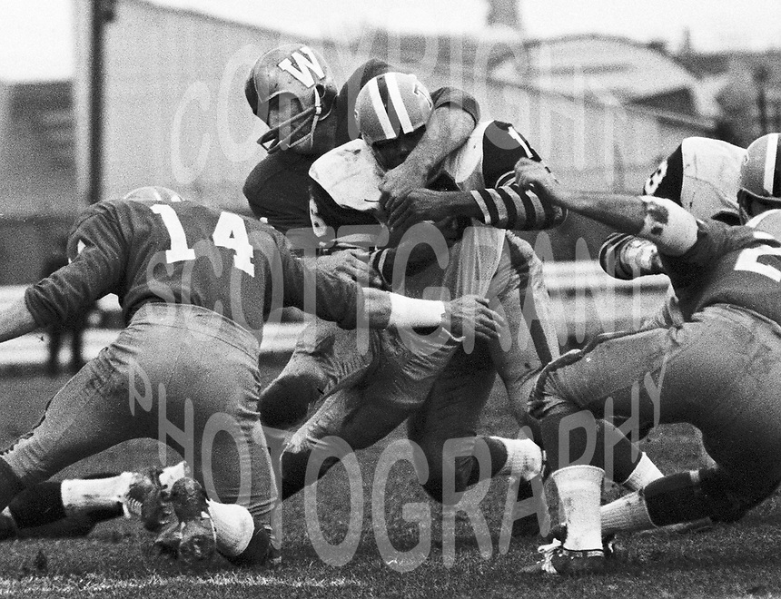 Paul Robson Winnipeg Blue Bombers 1965 Grey Cup. Copyright photograph Scott Grant