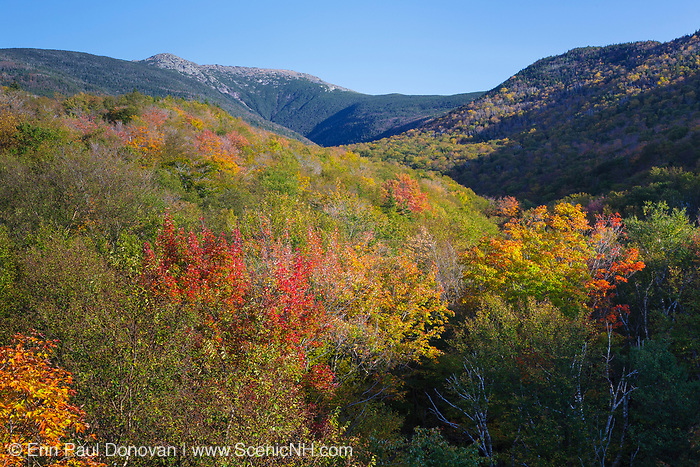 Lafayette Brook Scenic Area during the autumn months in the White Mountains, New Hampshire USA