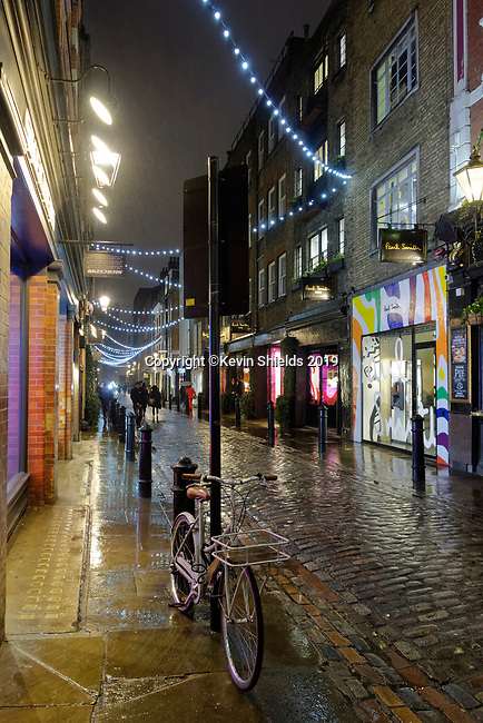 Floral Street at night, Covent Garden, London, England, UK