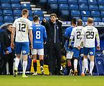 13.02.2021 Rangers v Kilmarnock: Steven Gerrard with Ryan Jack at fulltime