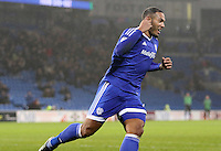 Kenneth Zohore of Cardiff City celebrates scoring his sides second goal of the match during the Sky Bet Championship match between Cardiff City and Preston North End at Cardiff City Stadium, Wales, UK. Tuesday 31 January 2017
