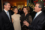 Jason and Courtney Fertitta talk with Diane and John Connally at the M.D. Anderson benefit held honoring the Fourticqs Thursday Dec. 13,2006.(Dave Rossman/For the Chronicle)<br />