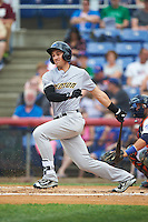 Trenton Thunder right fielder Lane Adams (6) during a game against the Binghamton Mets on May 29, 2016 at NYSEG Stadium in Binghamton, New York.  Trenton defeated Binghamton 2-0.  (Mike Janes/Four Seam Images)