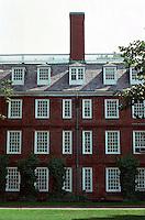 Cambridge:  Harvard Yard--Massachusetts Hall, North elevation, 1718.  Photo '88.