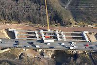 Bruecke Glinder Au, BAB A1: EUROPA, DEUTSCHLAND, HAMBURG, (EUROPE, GERMANY), 01.03.2013: Autobahnbaustell A1, Glinder Au, Neubau der Autobahnbruecke