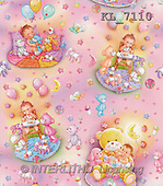 Interlitho, GIFT WRAPS, paintings, babies, toys, pink(KL7110,#GP#) everyday