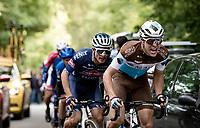 Benoit Cosnefroy (FRA/AG2R-La Mondiale) up the final climb of the day; the Côte de la Roche aux Faucons<br /> <br /> 106th Liège-Bastogne-Liège 2020 (1.UWT)<br /> 1 day race from Liège to Liège (257km)<br /> <br /> ©kramon