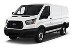 2019 Ford Transit Van 250 LR 4 Door Cargo Van angular front stock photos of front three quarter view