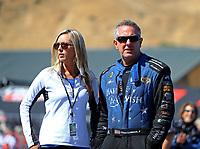 Jul 30, 2017; Sonoma, CA, USA; NHRA funny car driver Tommy Johnson Jr during the Sonoma Nationals at Sonoma Raceway. Mandatory Credit: Mark J. Rebilas-USA TODAY Sports