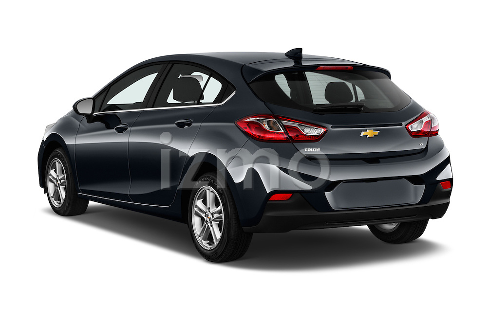Car pictures of rear three quarter view of 2017 Chevrolet Cruze LT 5 Door Hatchback Angular Rear