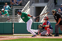 Boston Red Sox J.D. Martinez (28) bats during a Major League Spring Training game against the Minnesota Twins on March 17, 2021 at JetBlue Park in Fort Myers, Florida.  (Mike Janes/Four Seam Images)