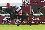October 04, 2015, Paris, FRA, FRANCE -  Ballydoyle with Ryan L. Moore up wins the Total Prix Marcel Boussac - Critérium des Pouliches (Group I) at  Longchamp Race Course  [Copyright (c) Sandra Scherning/Eclipse Sportswire, e-mail: info@sandrascherning.de, NO MODEL RELEASE]