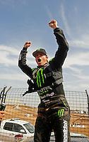 18-20 March 2011, Chandler, Arizona, USA Rick Huseman, winner, celebration, Toyota Tundra ©2011, Mark J. Rebilas