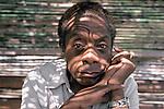James Baldwin in 1985.
