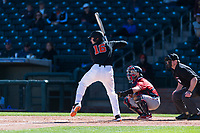 Oregon State Beavers first baseman Zak Taylor (16) at bat during a game against the Gonzaga Bulldogs on February 16, 2019 at Surprise Stadium in Surprise, Arizona. Oregon State defeated Gonzaga 9-3. (Zachary Lucy/Four Seam Images)