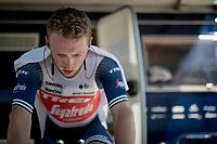 Charlie Quarterman (GBR/Trek - Segafredo) warming up for the iTT<br /> <br /> 91st Baloise Belgium Tour 2021 (BEL/2.Pro)<br /> Stage 2 (ITT) from Knokke-Heist to Knokke-Heist (11.2km)<br /> <br /> ©kramon