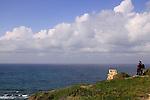 Israel, Sharon region, Apollonia National Park by the Mediterranean Sea