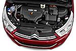 High angle engine detail of a 2013 Citroen C4 Exclusive 5 Door Hatchback 2WD