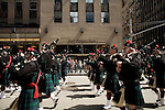 Saturday, April 14,  2007, New York, New York.. The 9th annual Tartan Day Parade was held today on 6th Avenue between 44th and 58th Streets.. Thousands turned out to play the drums, pipes and to view all those dressed for the occasion. . Bands made their way up 6th Avenue to the viewing station at 58th Street.