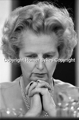 Margaret Thatcher MP. Conservative Party Conference, Blackpool, Winter Gardens 1973 Lancashire UK